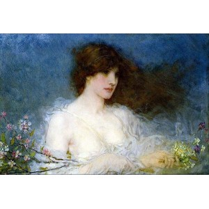 油絵 George Henry Boughton_ 春の牧歌