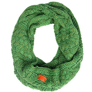 Aran Traditions Emerald Green Cable Knit Snood