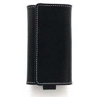 Whitehouse Cox 『ホワイトハウスコックス』 正規取扱店 リング付キーケース ホリデーライン S9692-Black x Marine KEY CASE WITH RING