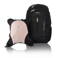 Obersee Bern Diaper Bag Backpack with Detachable Cooler, Black/Bubble Gum by Obersee