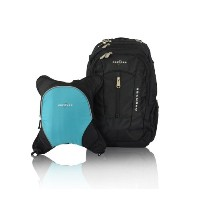 Obersee Bern Diaper Bag Backpack with Detachable Cooler, Black/ Turquoise by Obersee