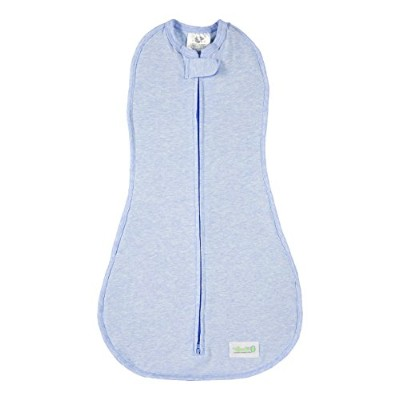 Woombie Original Baby Swaddle, Dream On Blue Heathered, Big Baby 14-19 Lbs by Woombie