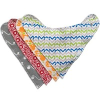 YourEcoFamily Baby Bandana Bibs - Adjustable with Snaps - Made of Natural Cotton and Backed by...
