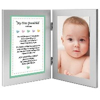 To My First Grandchild With Love - Sweet Poem from Grandmother in Double Frame - Add Photo by...