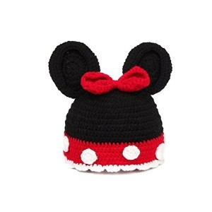 Eyourhappy Handmade Knitted Crochet Beanie Hat Costume Newborn Baby Photograph Mickymouse Hat by...