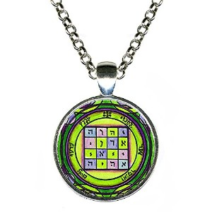 """Solomons 1st Pentacle of the Saturn to make people submit to your wishes 1""""シルバーペンダント"""