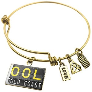 Expandable Wire Bangle braceletool Airportコードfor Gold Coast、NEONBLOND