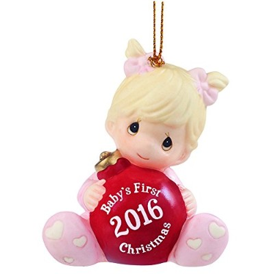 """(Baby's First Christmas 2016, Girl) - Precious Moments, Christmas Gifts,""""Baby's First Christmas..."""