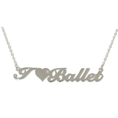 I Love Ballet silver-tonedペンダント – by Inspired Treasures