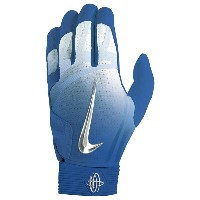 ナイキ メンズ 野球 グローブ【Nike Huarache Elite Batting Gloves】Game Royal/Chrome/Light Aqua