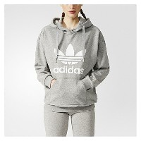 アディダス レディース トップス パーカー【adidas Originals Trefoil Hoodie】Medium Grey Heather