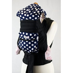 Palm and Pond Mei Tai Baby Sling Carrier - Blue with White Spots by Palm&Pond