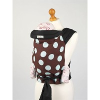 Palm and Pond Soft Mei Tai Baby Carrier Sling - Brown/Blue Spot by Palm&Pond