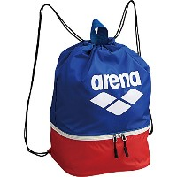 arena(アリーナ) 水泳用 プール バッグ ブルー×レッド ARN-6435 BLU