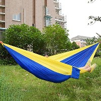 CHOJI Assorted Color Hanging Sleeping Bed Parachute Nylon Fabric Outdoor Camping Hammocks Double...