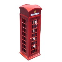 D-ART COLLECTION Mahogany London Telephone Display Case, Mini by D-Art Collection