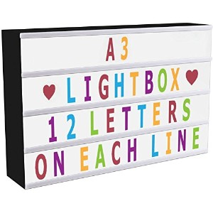 ISWEES a3Enhanced CinematicライトボックスSigns Light Up Your Life with 208pcsブラック&カラフル文字文字Emojis数字記号...