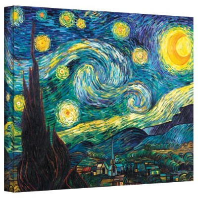ArtWall Starry Night by Vincent Van GoghギャラリーWrappedキャンバスアート、18by 24インチ