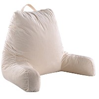 Cheerコレクション超快適foam-filledテレビとReading Pillow with Removable Microplush洗濯可能カバー For Adults ベージュ