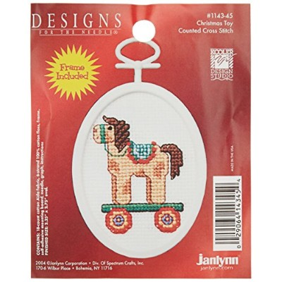 "Christmas Toy Mini Counted Cross Stitch Kit-2.75"" Oval 18 Count (並行輸入品)"