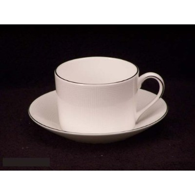 Vera Wang China Ivory Trellis Cups & Saucers