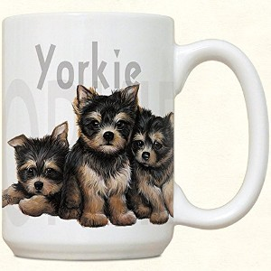 Yorkie Puppy Puppies Large 425セラミックマグ