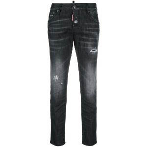 Dsquared2 - washed out cool girl jeans - women - コットン/ポリエステル/スパンデックス - 40