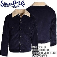 Sugar Cane(シュガーケーン)CORDUROY RANCH JACKET SC13940-128 Navy