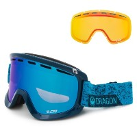 (取寄)ドラゴン D1 スキー ゴーグル Dragon Alliance Men's D1 Ski Extra Lens Goggles Stone Blue/Blue Steel + Yellow...