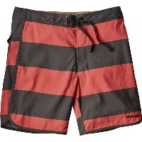 パタゴニア メンズ 水着・ビーチウェア 海パン【Scallop Hem Wavefarer 18in Board Shorts】Da Bull Big/Spiced Coral