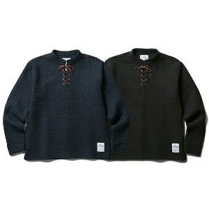 CLUCT / クラクト LACE UP WOOL PULLOVER【ニットソー】