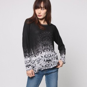【SALE 50%OFF】デシグアル Desigual JERS_ESTHER  REP (NEGRO)