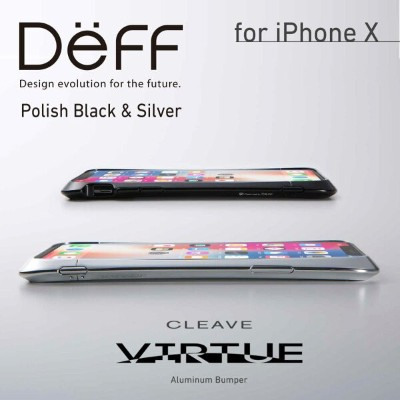 iPhone Xs/X アルミバンパー ケース ポリッシュ仕上げ CLEAVE Aluminum Bumper Virtue (バーチュ) for iPhone Xs/X Apple /...