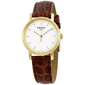 ティソ Tissot 腕時計 メンズ 時計 Tissot White Dial Leather Strap Men's Watch T1092103603100