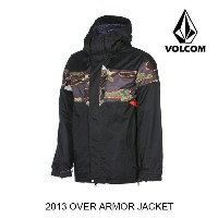 2013 VOLCOM ボルコム ジャケット OVER ARMOR JACKET BLK