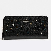 COACH ACCORDION ZIP WALLET WITH STARDUST STUDS F22700/ コーチ 長財布 安心ギフトレシート付き [並行輸入品]