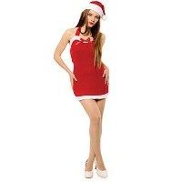 Bristol Novelty Red/White Christmas Sweetie Dress + Hat Adult Costumes - Women's - One Size