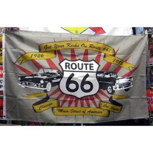 ROUTE66 FLAG ルート66 フラッグ アメリカ雑貨 アメリカン雑貨