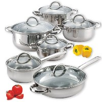 Cook N Home 12-Piece Stainless Steel Set [並行輸入品]