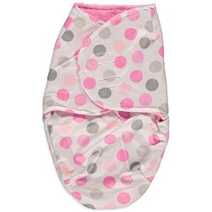 Little Beginnings Polka Dot Sherpa Bunting (Pink) by Little Beginnings