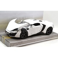 "JADA TOYS 1:24SCALE BIGTIME MUSCLE ""LYKAN HYPERSPORT""(WHITE) ジェイダトイズ 1:24スケール ビッグタイムマッスル 「ライカン..."