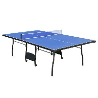 funmall 9-footフルサイズインドアFolding Table Tennis Table with Netセット