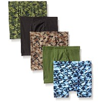 Hanes B755A5 Boy Stripe Boxer Brief 5-Pack - Assorted Prints, Small