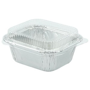 """Durable Foil Mini Loaf Bread鍋2–3/ 4"""" with Lids for Pastries、20セット。"""