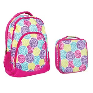 Reinforced Water Resistant学校バックパックand Insulated Lunchバッグセット 13 x 17 x 7.9 inches ピンク CC-BPK1001...