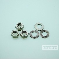 Brompton Titanium bolt sets for 2 speed axle fittings for Brompton Folding Bike - Dino Kiddo