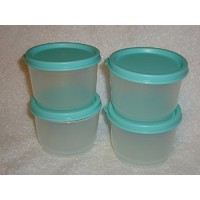 Tupperware Snack Cup 4ozセットof 4withミントグリーンSeals