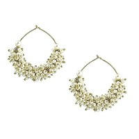 The Jewelbox Gold Plated Pearl Bali Earring For Women