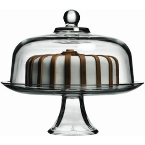 Anchor Hocking Presence Cake Plate w/Dome, 2 Piece Stand & Dome by Anchor Hocking