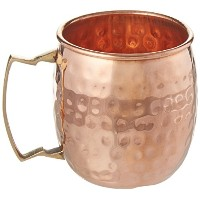Handmade Pure Copper Hammered Moscow Mule Mug,Set of 2 Mugs by DakshCraft